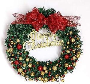 WJJP 20 Pouces de Guirlande de Noël, avec Une médaille d'or de la Plaque d'arc et Boule Rouge décoré de Guirlande de Noël, Accueil/Shopping/Mur/Festival de Noël Déco