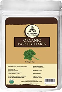 Naturevibe Botanicals Parsley Flakes, 3.53 ounce (100gm) | Non-GMO and Gluten Free | Petroselinum crispum var. neapolitanum