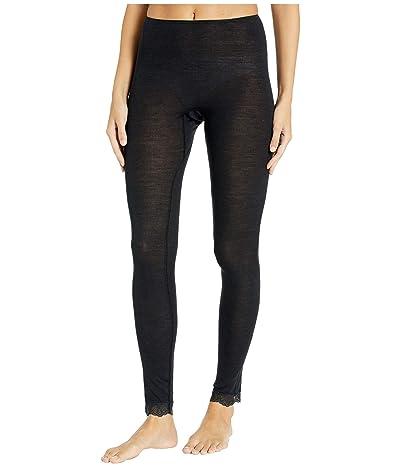 Hanro Woolen Lace Leggings (Black) Women
