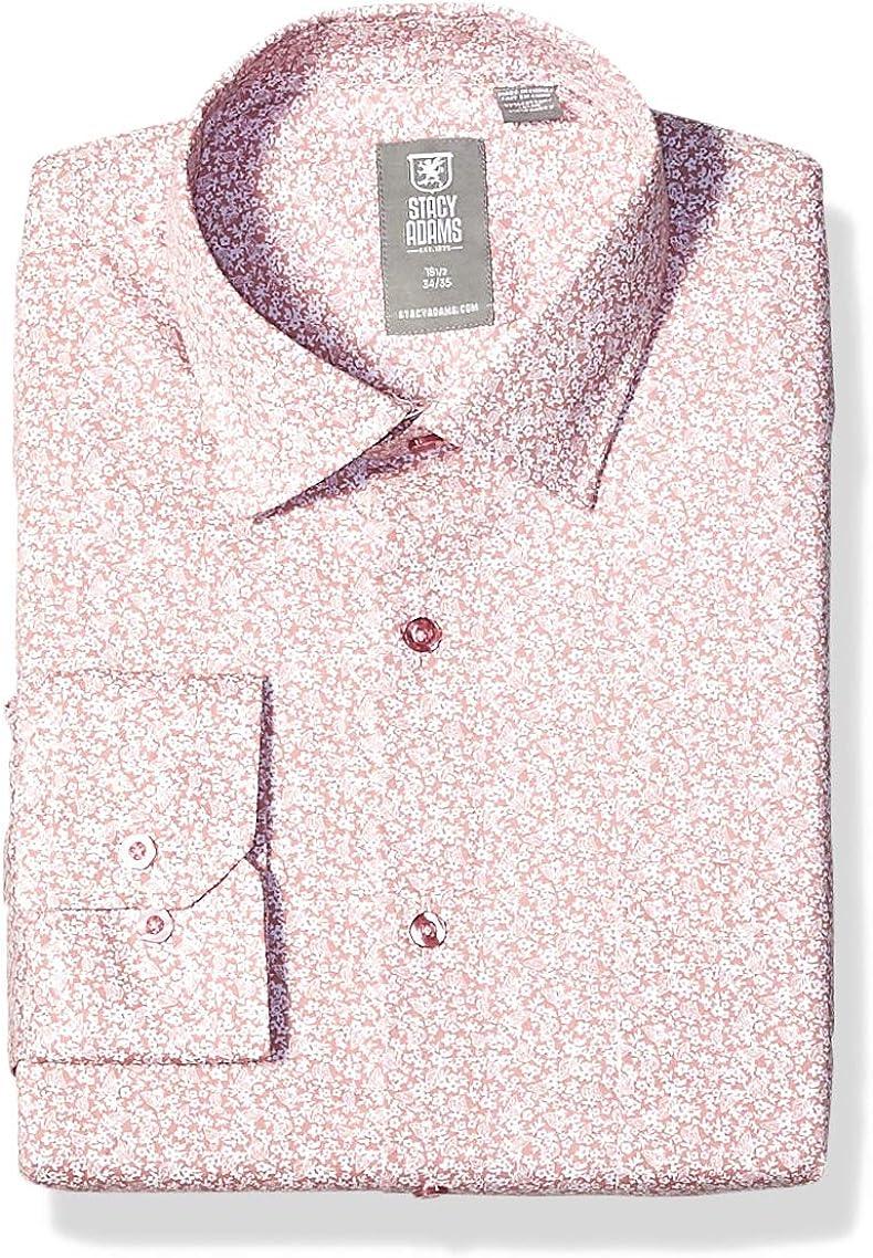 STACY ADAMS Men's Contemporary Modern Fit Dress Shirt