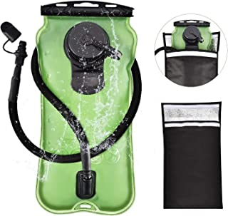 FIRINER Hydration Bladder 3 Liter Water Reservoir 100oz Backpack Reservoirs with Protective Cooler Bag Upgrade FDA Approved Leadproof BPA Free Backpacking Bladder for Outdoor Hiking Climbing Cycling