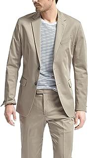 Banana Republic Men's Slim Fit Stretch Cotton Two Button Blazer Jacker Acorn 40R Regular