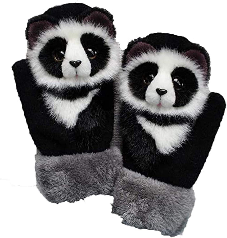 Womens Winter Cartoon Gloves Unisex Running Gloves Thermo Plush Gloves