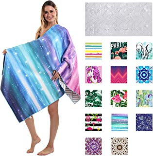 Thick Microfiber Beach Towel Purple Galaxy, Sand Resistant Free Proof Sandless, Fast Quick Dry, Clearance Compact Cool Tra...