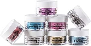 Cuccio Pro Powder Polish Dip System - She Shimmers Collection - 8 Piece Set - 0.5 oz / 14 g Each