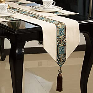 GAOQIANG European Dining Table Set Dish Set Chinese Furniture Table Flag Tea Table Fabric TV Tablecase,A2