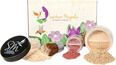 MEDIUM Mineral Makeup Essential Minimalist Beauty 4 Piece Kit   For Active Lifestyles   Pure & Natural   Made in USA