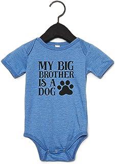 de 0-6 meses a 14-15 a/ños azul azul Talla:3-4 a/ños Camiseta azul para beb/é con inscripci/ón en ingl/és /«Im The Big Brother/»