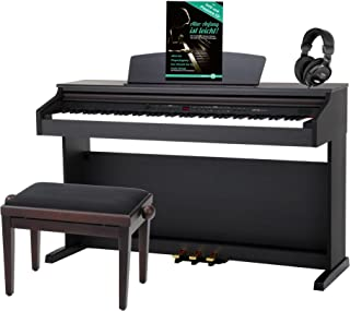 Classic Cantabile DP-50 RH piano, madera de rosa, con banqueta, auriculares