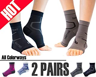 Thirty48 Plantar Fasciitis Compression Socks(1 or 2 Pairs), 20-30 mmHg Foot Compression Sleeves for Ankle/Heel Support, Increase Blood Circulation, Relieve Arch Pain, Reduce Foot Swelling