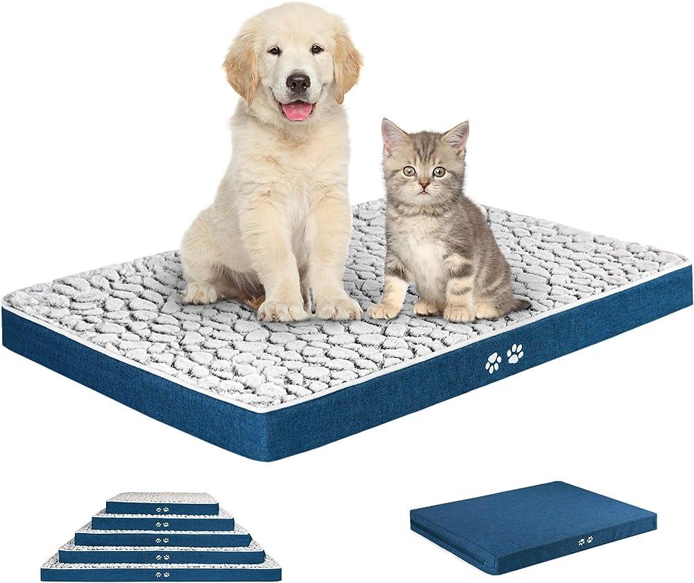 Kroser, letto per cani, in morbido peluche auto-riscaldante, lavabile, taglia m, 76cm x 51cm x 7,6cm
