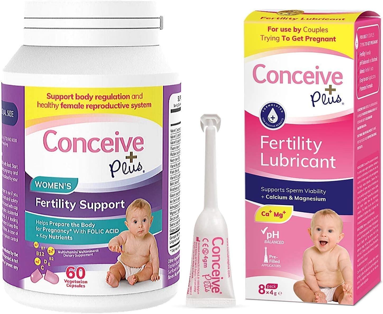 Conceive Plus Women's Fertility Bundle Prenatal 60 Vitamins shipfree Topics on TV Coun
