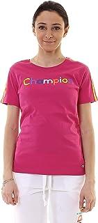 Champion 111323 PS017VEB Women's Crew Neck T-Shirt, X-Large, Pink