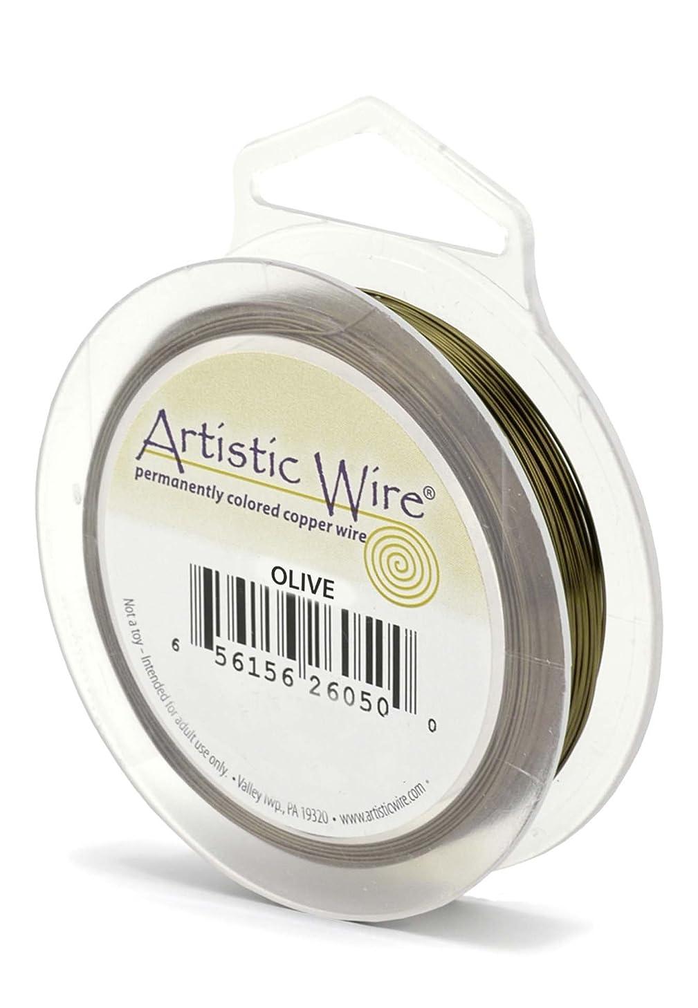 Artistic Wire 18 Gauge Wire, Olive, 10-Yard