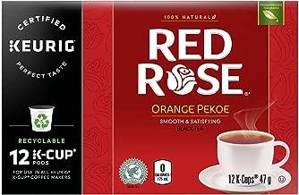 Red Rose Orange Pekoe Tea Keurig K-Cup Pods 12 cups, (Imported from Canada)
