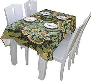 WOOR William Morris Prints Tablecloth Polyester for Birthday Party Wedding Holiday Kitchen Dining Room Table Covers Decoration Table Cloth Rectangle/Oblong 60x90 Inch