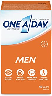 One A Day Men's Multivitamin Tablets, Specially Formulated with Vitamins and Minerals, 90 Tablets