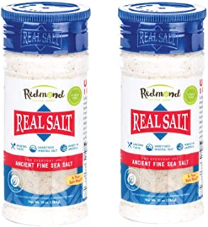 Sponsored Ad - Redmond Real Sea Salt - Natural Unrefined Gluten Free Fine, 10 Ounce Shaker (2 Pack)