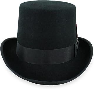 Belfry Mens Top Hat Satin Lined Topper 100% Wool in Black Grey Navy Pearl