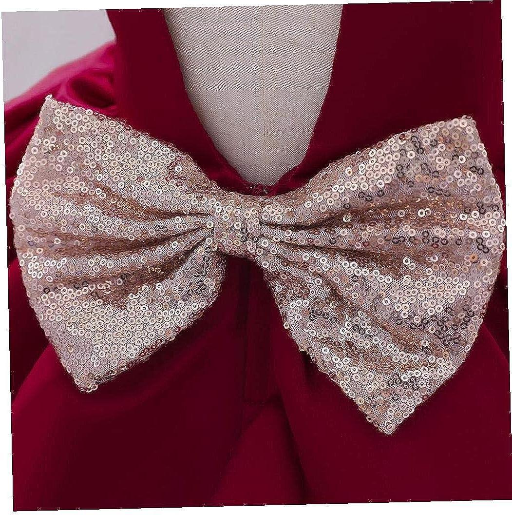 Odoukey Baby-Kleid-Partei-Prinzessin T/üll Tutu Elegante Bogen Brautjungfer f/ür Kleinkind 70cm Rosa