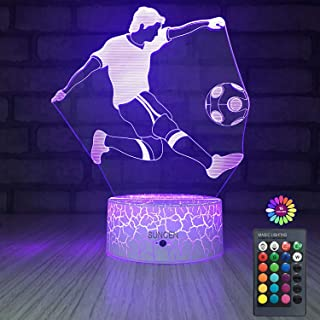SUNCEN Football Lamp Night Light for Kids with Remote & Smart Touch 7 Colors + 16 Colors Changing Dimmable Toys 1 2 3 4 5 6 7 8 Year Old Boy or Kids Gifts (Football)