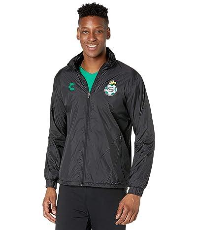 CHARLY Santos Laguna Fleece Jacket (Black/Green) Men