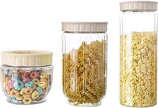 Pkfinrd 3pcs Stockage Alimentaire conteneur Cuisine Transparente Stockage Alimentaire conteneur de Stockage Alimentaire av...