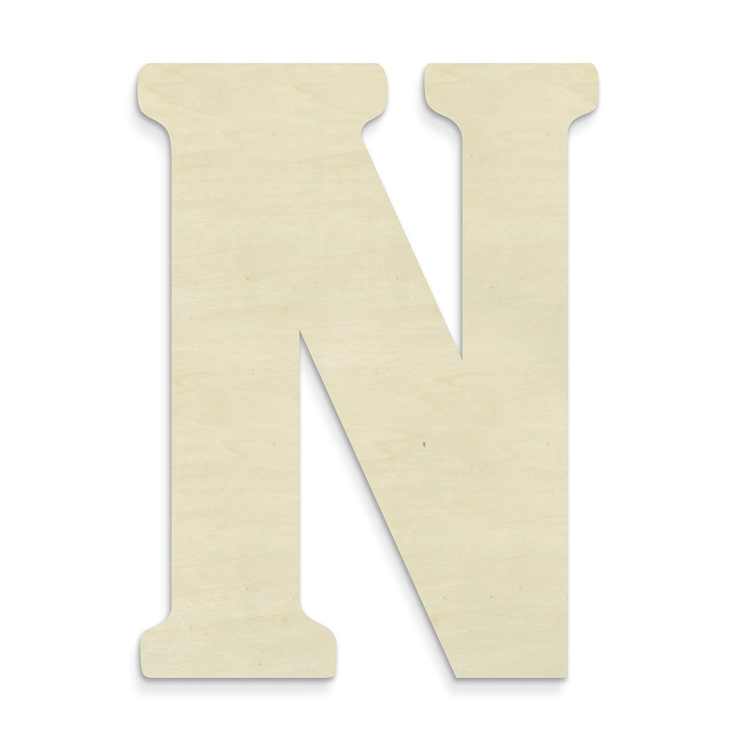 UNFINISHEDWOODCO Unfinished Wood Letter, 15-Inch, Monogrammed N, Large