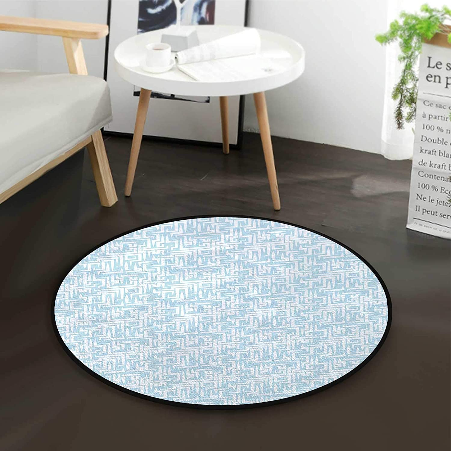 Abstract Maze Style Sales of SALE items from new works Max 66% OFF Motif Office M Swivel Chair Mat