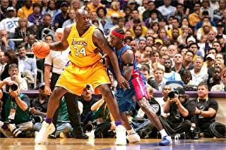 Ben Wallace block shot Kobe cloth Poster Print Basketball Sports Poster home decoration or great gift 20x30Inch
