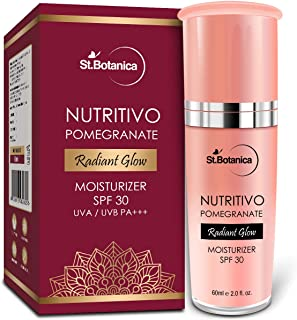 StBotanica NUTRITIVO Pomegranate Radiant Glow Moisturiser SPF 30, 60ml - With Natural Botanicals For Bright & Clear Complexion, No Parabens, Silicones