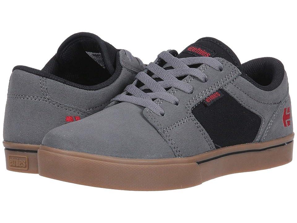 etnies Kids Barge LS (Toddler/Little Kid/Big Kid) (Grey/Black/Gum) Boys Shoes