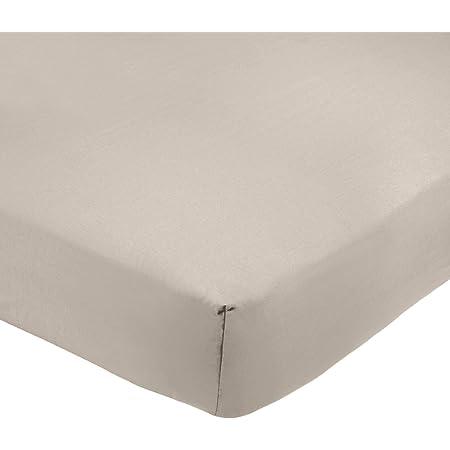 Amazon Basics AB 200TC Poly Cotton, mélangé, Gris, 135 x 190 x 30 cm