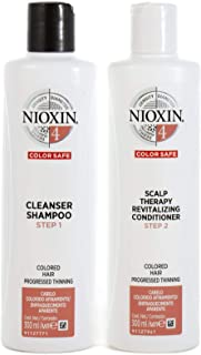 Nioxin System 4 Duo Pack, Cleanser 300ml and Scalp Therapy Revitalising Conditioner 300ml