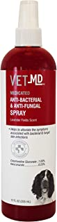 VetMD Medicated Anti-Bacterial & Anti-Fungal Spray   Best Medicated Spray For All Dogs, 12 ounces, Anti-Bacterial & Anti-Fungal