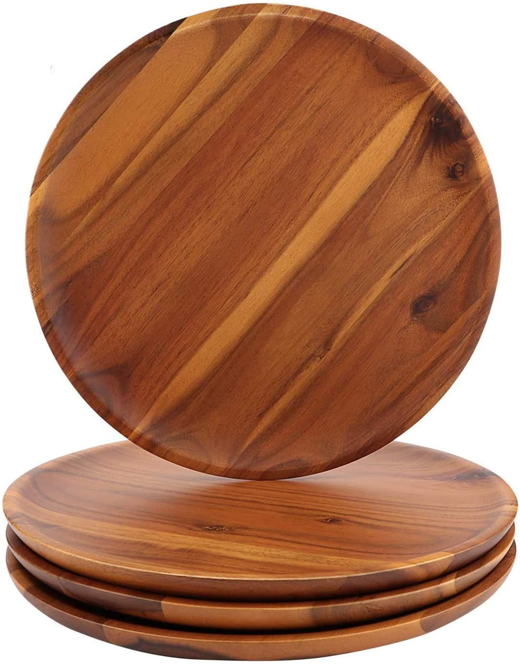 AIDEA Acacia Max 78% OFF Outlet SALE Wood Dinner Plates 8Inch Set of Round