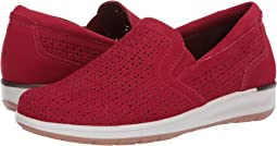 Red Perforated Nubuck