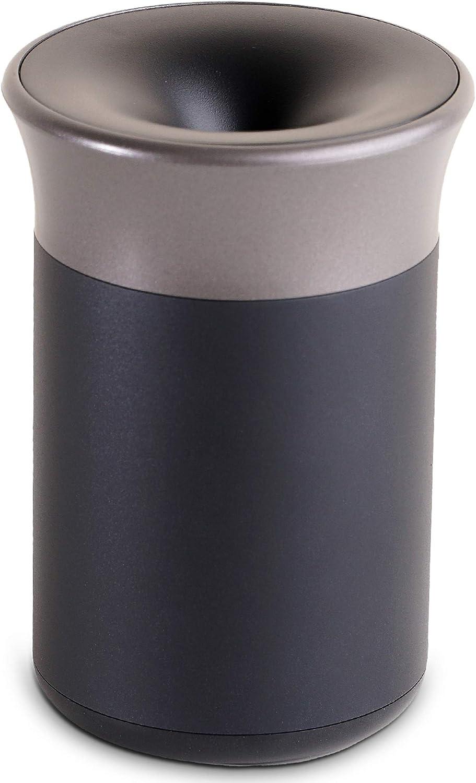 e-smoQ/® Aschenbecher mit Drehdeckel f/ür IQOS 3 // 3 Duo B/üro Zubeh/ör f/ür IQOS 2.4 und Multi Ashtray f/ür Auto Zuhause und Draussen schwarz