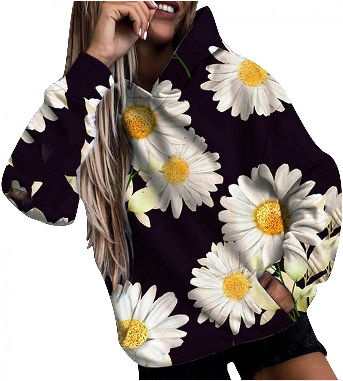 Masbird Hoodies for Women,Women's Long Sleeve Oversized Graphic Printed Sweatshirts Cute Anime Hoodies for Teen Girls