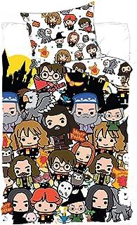 Harry Potter - Juego de Cama (140 x 200 cm, Funda de Almohada de 63 x 63 cm)