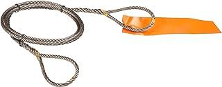 6 x 25 IWRC 8 Eyes Mazzella Mechanical Splice Wire Rope Sling Eye-and-Eye 5000 lbs Vertical Load Capacity 6 Length 1//2 Diameter