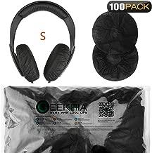Geekria Stretchable Headphone Earpad Covers/Disposable Sanitary Earcup Fits Sennheiser HD219, HD229, HD239, HD218, HD228, HD38, HD220, Beats Solo3, Solo2, Wireless Headphones (100 Pairs, Black)