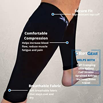 Amazon Com Riptgear Calf Compression Sleeves