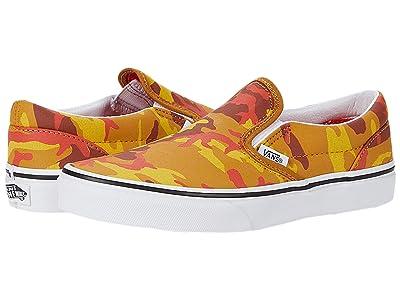 Vans Kids Classic Slip-On (Big Kid) ((Desert Camo) Multi/True White) Boys Shoes