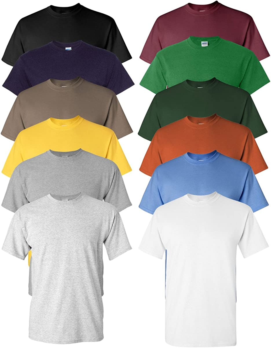 12 Blank Gildan Heavy Cotton t-shirt Wholesale Bulk Lot ok pour mélanger S-XL /& Couleurs