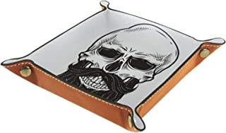 Vockgeng Crâne Barbu Boîte de Rangement Panier Organisateur de Bureau Plateau décoratif approprié pour Bureau à Domicile t...
