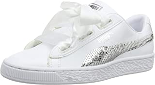 Puma Kids-Girls Basket Heart Bling Jr White Si