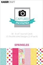 Kaisercraft Captured Moments Sprinkles Double Sided Cards, 6 by 4-Inch, 30-Pack
