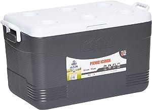 Cosmoplast Keep Cold Plastic Picnic Cooler Icebox 60 Liters, MFIBXX152CG_Cool Grey
