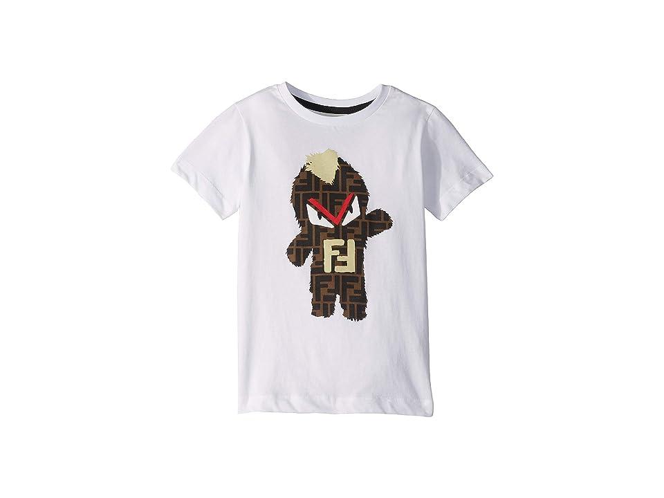 Fendi Kids - Fendi Kids Monster Logo Graphic Tee